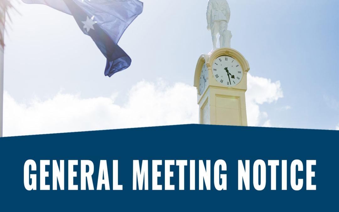 General Meeting Notice