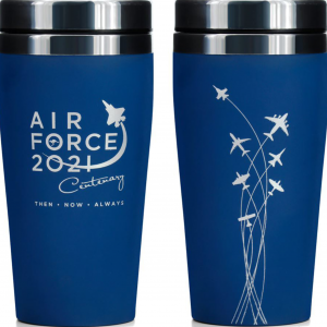 Bringing 100 years of the Air Force together in an easy to transport and highly functional travel mug. Perfect for that much needed shot of caffeine in the morning. Soft touch feel to make handling feel like an F-35.